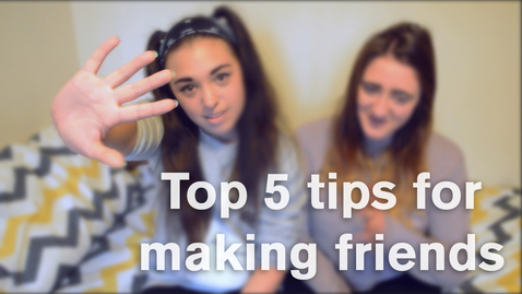 Thumbnail for entry Vlog: Top 5 tips for making friends at uni
