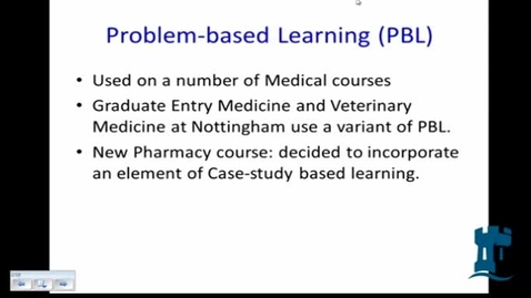 Thumbnail for entry January 2014 E-Learning community - Michael Randall (Life Sciences) - Xerte Online Toolkits