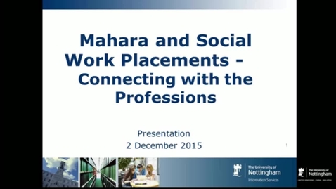 Thumbnail for entry Kathryn Moss - Connecting with the Professions, Teaching and Learning Seminar 2nd December 2015