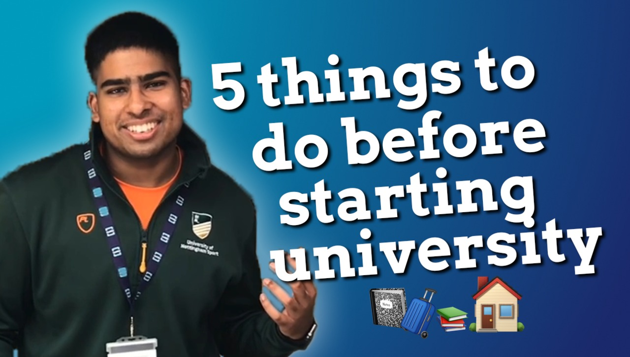 Vlog: 5 things to do before starting uni