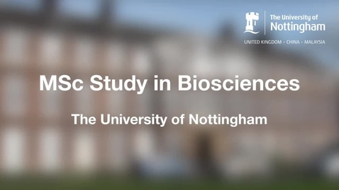 Thumbnail for entry MSc Study in Biosciences