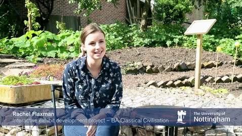Thumbnail for entry Nottingham Internship Scheme - Gaining experience in my chosen career