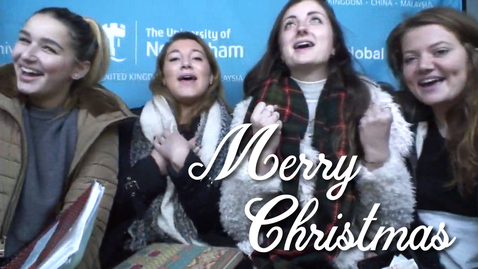 Thumbnail for entry Christmas sing along... | #UoNVideoBox