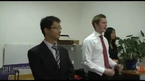 Thumbnail for entry Students in Free Enterprise (SIFE) - China Campus
