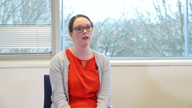 Thumbnail for entry Dr Emma Taylor-Steeds, PhD alumna - Sharing her career plans with her supervisors