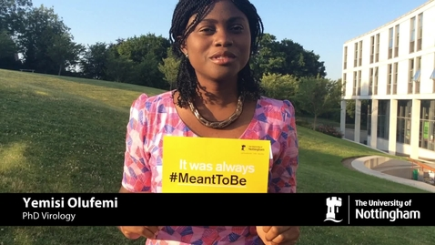 Thumbnail for entry Nigerian students tell us why they were #MeantToBe at Nottingham