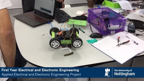 Thumbnail for entry Electric vehicles: first year students applied Electrical and Electronic Engineering project