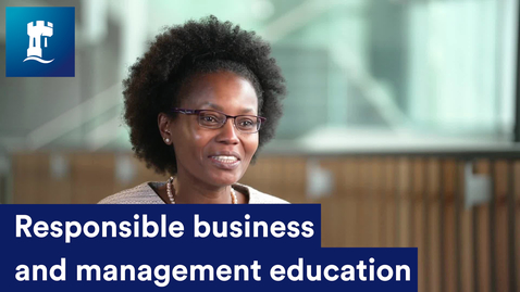 Thumbnail for entry Responsible business and management education