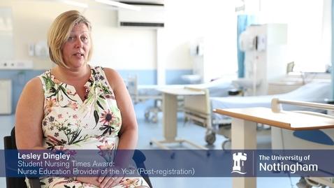 The University of Nottingham 'Student Nursing Times' staff award winners