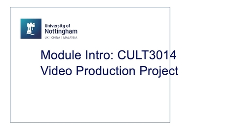 Thumbnail for entry CULT3014 Video Production Project