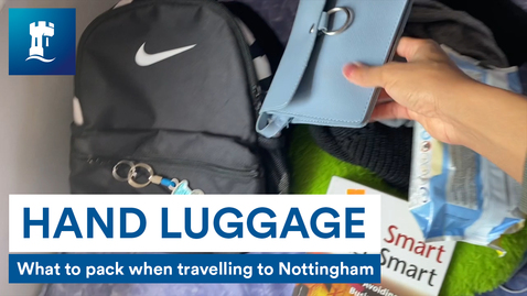Thumbnail for entry What to pack in your hand luggage when travelling to Nottingham
