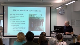 Thumbnail for entry Professor Jonathan Ball talks about being a British Science Association Media Fellow