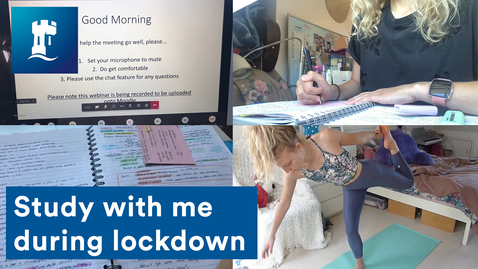 Thumbnail for entry Vlog: Productive study with me during lockdown