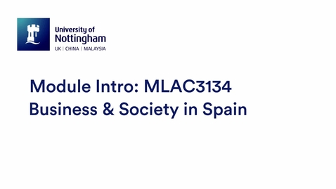 Thumbnail for entry MLAC3134 Business & Society in Spain ENG