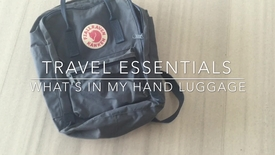 Vlog: Hand luggage tips for international students