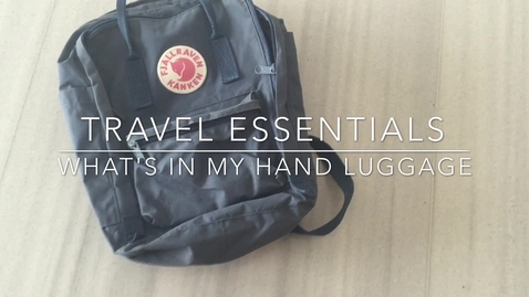 Thumbnail for entry Vlog: Hand luggage tips for international students