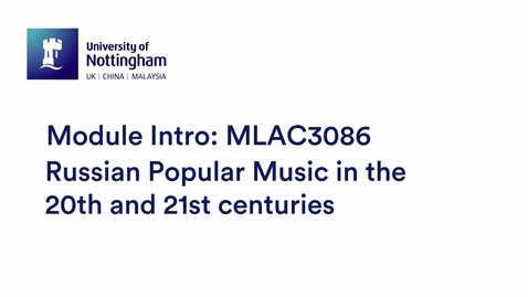 Thumbnail for entry MLAC3086 Russian Popular Music in the 20th and 21st centuries