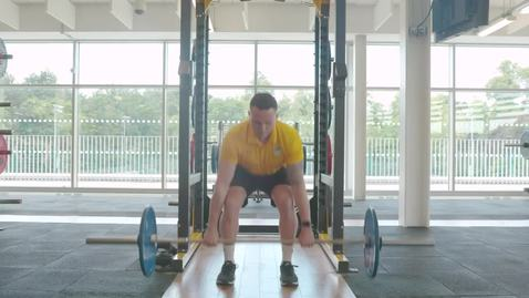 Lifting instruction video - bent over barbell row