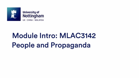 Thumbnail for entry MLAC3142 People and Propaganda