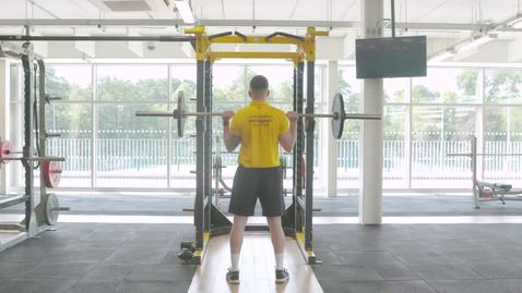 Lifting instruction video - standing press