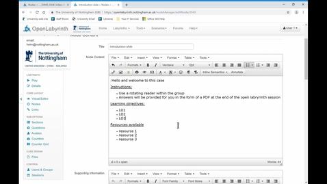 Thumbnail for entry 3. Editing nodes
