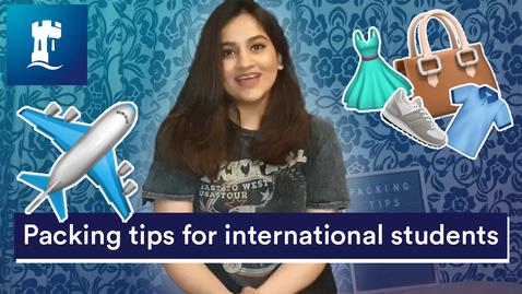 Thumbnail for entry Vlog: Packing tips for international students