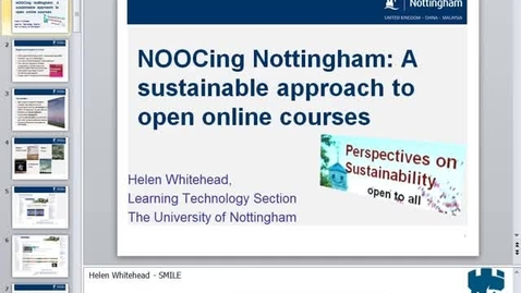 Thumbnail for entry HEA Seminar 5th March 2014 - NOOCing Nottingham: a sustainable approach to Open Online Courses - Helen Whitehead