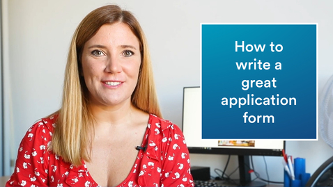 Thumbnail for entry Career advice | How to write a great application form