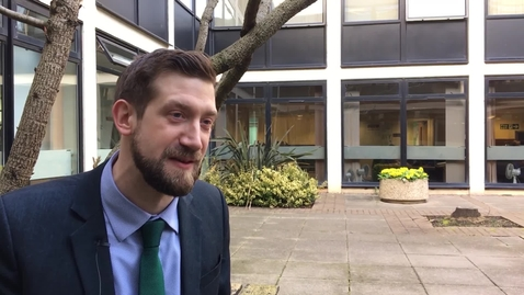 Thumbnail for entry Peter Mumford, PhD alumni, talks about his role as a trainee patent attorney