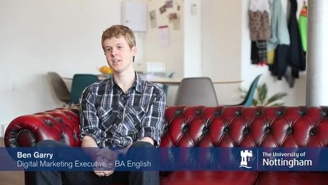 Thumbnail for entry Nottingham Internship Scheme - Making an impact