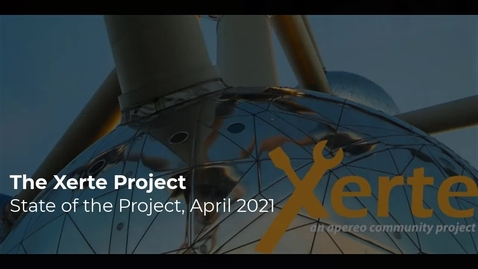Thumbnail for entry Xerte: State of the Project - Teaser