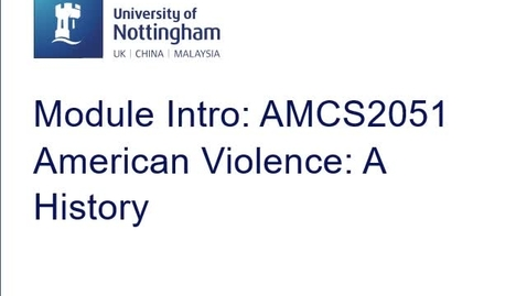 Thumbnail for entry AMCS2051 American Violence: a History