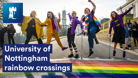 Thumbnail for entry University of Nottingham Rainbow Crossings 🌈