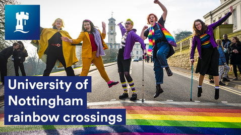 Thumbnail for entry University of Nottingham Rainbow Crossings 🌈