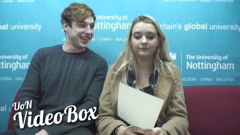 Thumbnail for entry Three words to describe UoN | #UoNVideoBox