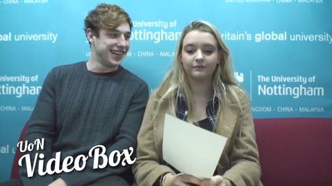 Thumbnail for entry Three words to describe UoN | #UoNVideoBox