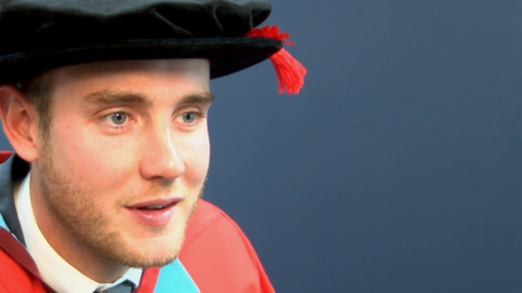 Thumbnail for entry Honorary Graduate 2015 - Stuart Broad - Dr of Laws