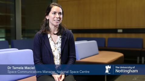 Thumbnail for entry Dr Tamela Maciel talks about using her PhD within science communications.