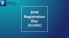 Thumbnail for entry Welcome to UNNC- 2018 registration day