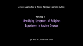 Thumbnail for entry Cognitive Approaches to Ancient Religious Experience (CAARE) Highlights