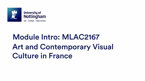 Thumbnail for entry MLAC2167 Art and Contemporary Visual Culture in France