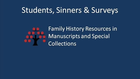Thumbnail for entry Nottinghamshire's People: Students, Sinners & Surveys