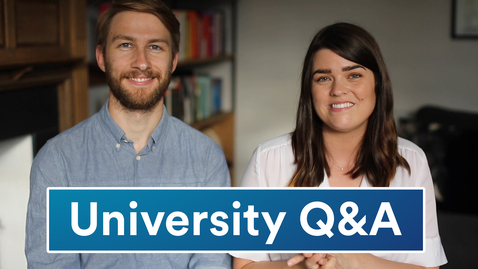 Thumbnail for entry Vlog: Uni Q&A with alumni The Anna Edit and Mark Newton