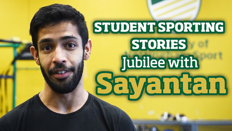 Thumbnail for entry Student Sporting Stories | Jubilee with Sayantan