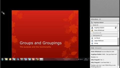 Thumbnail for entry Groups and Groupings webinar