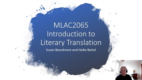 Thumbnail for entry MLAC2065 Introduction to Literary Translation