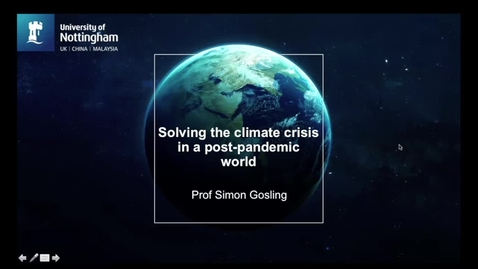 Thumbnail for entry Solving the climate crisis in a post pandemic world