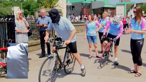 Professor Todd Landman's blindfolded bike ride