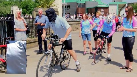 Thumbnail for entry Professor Todd Landman's blindfolded bike ride
