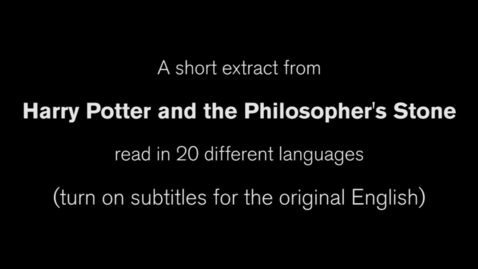 Thumbnail for entry Harry Potter and the Philosopher's Stone in 20 languages
